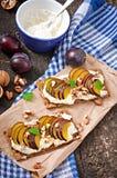 Vegetarian Diet sandwiches Crispbread Stock Images