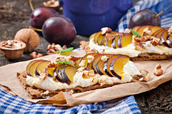 Vegetarian Diet sandwiches Crispbread Royalty Free Stock Photo