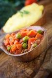 Vegetarian dinner Stock Photography