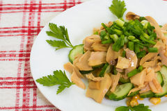 Vegetarian dinner mushroom salad Stock Images
