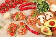 Vegetarian dinner Royalty Free Stock Photos