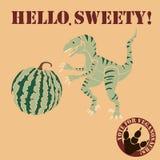 Vegetarian dinosaur Royalty Free Stock Image