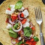 Vegetarian Dish. Vegetarian Crepe. Healthy Vegetarian Food Royalty Free Stock Image