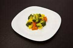 Vegetarian dish on a plate Stock Photography
