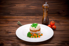 Vegetarian dish rice with vegetables Stock Photography