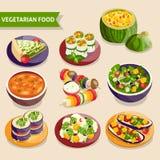 Vegetarian dishes set Royalty Free Stock Photo