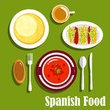 Vegetarian dishes of spanish cuisine Stock Images