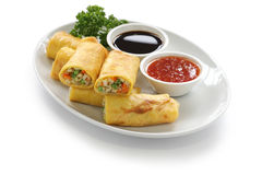 Vegetarian egg rolls Stock Photo