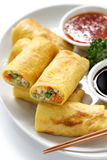 Vegetarian egg rolls Stock Photos