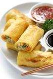Vegetarian egg rolls stock photos