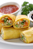 Vegetarian egg rolls Royalty Free Stock Photos