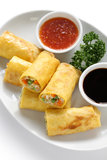 Vegetarian egg rolls Stock Photography
