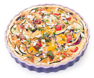 Vegetarian eggplant quiche Stock Photo