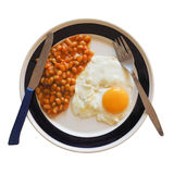 Vegetarian English breakfast isolated over white Stock Images