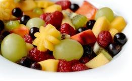 vegetarian för sallad för porslin för apelsiner för matfruktdruvor royaltyfri foto