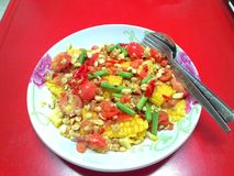vegetarian för sallad för porslin för apelsiner för matfruktdruvor Arkivfoto