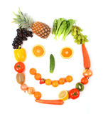 Vegetarian face Royalty Free Stock Images