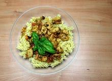 Vegetarian Fake Chicken and Vegetable Pasta Stock Image