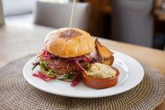 Vegetarian Falafel Burger Stock Images