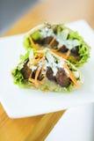 Vegetarian falafel in pita bread sandwich Royalty Free Stock Photography