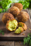 Vegetarian falafel with tzatziki sauce royalty free stock photo