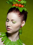 Vegetarian fashion Royalty Free Stock Photos