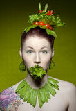 Vegetarian fashion Royalty Free Stock Image