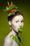 Vegetarian Fashion Stock Image