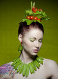 Vegetarian fashion Stock Images