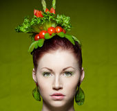 Vegetarian fashion Royalty Free Stock Photography
