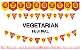 Vegetarian Festival Flag  Royalty Free Stock Photography