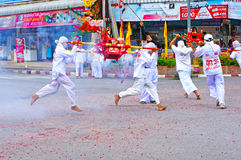 Vegetarian Festival parade Royalty Free Stock Images