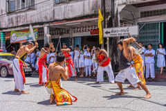 Vegetarian festival in Takua Pa Stock Photo