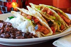 Vegetarian fish tacos Stock Images