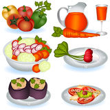 Vegetarian food 1. A collection of different Vegetarian food icons - part 1 Stock Photos