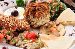 Vegetarian food. Middle eastern cuisine Royalty Free Stock Photos