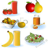 Vegetarian food 2. A collection of different Vegetarian food icons - part 2 Royalty Free Stock Photo