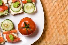 Vegetarian food background Stock Photo