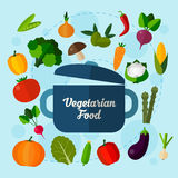 Vegetarian food background. Royalty Free Stock Photography