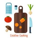 Vegetarian food background. Stock Photos