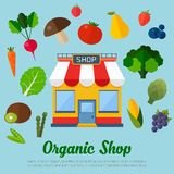 Vegetarian food background. Stock Images