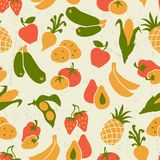 Vegetarian food. Background design with stylized Stock Photography