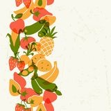 Vegetarian food. Background design with stylized Stock Images
