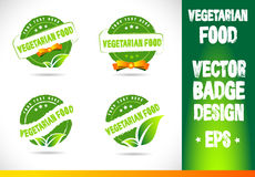 Vegetarian Food Badge Logo Vector Royalty Free Stock Photo