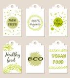 Vegetarian food badges Royalty Free Stock Image