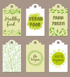 Vegetarian food badges Royalty Free Stock Image