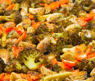 Vegetarian food, baked  vegetables Stock Photo