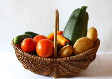 Vegetarian Food basket Stock Image