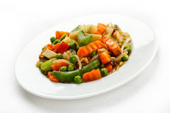 Vegetarian food - boiled vegetables Royalty Free Stock Images