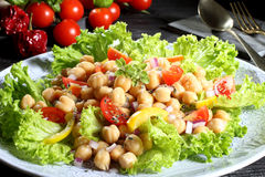 Vegetarian food Chickpeas salad Royalty Free Stock Photography
